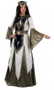 Disfraz de reina medieval de las cruzadas para mujer