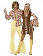Disfraz de pareja de hippies de los años 60