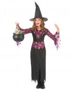 Disfraz de bruja para niña calaveras