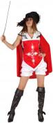 Disfraz de mosquetera para mujer