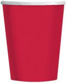 8 vasos rojos