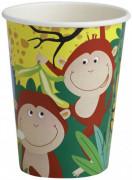 8 vasos estilo safari