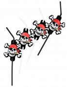 Pajitas flexibles estilo pirata