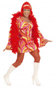 Disfraz de Drag Queen disco naranja