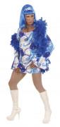 Disfraz de Drag Queen disco azul