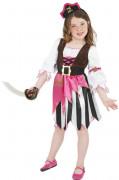 Disfraz de pirata rosa para niña