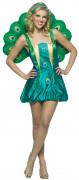 Disfraz pavo real mujer