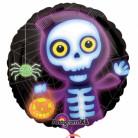 Globo esqueleto con calabaza Halloween