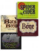Etiquetas de bebidas Halloween
