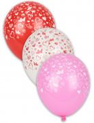 8 globos con corazones