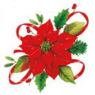 20 Servilletas papel Flor de Navidad 33x33 cm