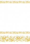 Mantel papel blanco y dorado