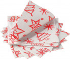 14 Servilletas papel Christmas Star rojo 33x33 cm