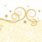 20 Servilletas papel arabesco dorado 33x33 cm