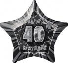 Globo estrella gris edad 40 años