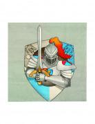 12 servilletas caballero medieval