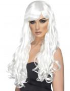 Peluca larga blanca