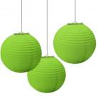 3 Decoraciones colgantes farolillos verdes