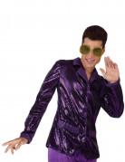 Camisa disco de color violeta brillante para hombre