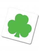 Posa vasos verde con forma de trébol
