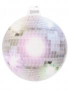 Decoración mural bola disco plateada