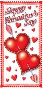 Decoración puerta corazón San Valentín