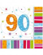 16 Servilletas papel 90 años 33x33 cm