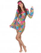 Disfraz de flores hippie