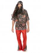 Disfraz de hippie para hombre tres piezas