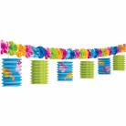 Guirnalda farolillos de papel chanclas de colores