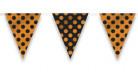 Guirnalda banderines con lunares negro y naranja