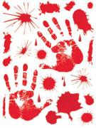 Pegatinas manchas de sangre