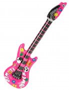 Guitarra rockera inflable rosa