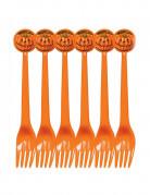 Lote 6 tenedores calabaza Halloween