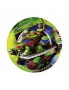 8 platos Tortugas Ninja™ 18 cm