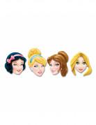 4 Máscaras cartón Princesas Disney™