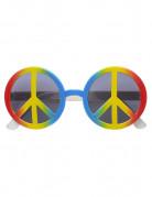 Gafas hippie multicolor adulto