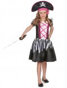 Disfraz pirataniña blanco y negro