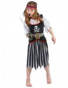 Disfraz pirata niña calavera blanca