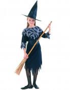Disfraz bruja niña negro y gris