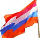 Bandera naranja hincha Holanda