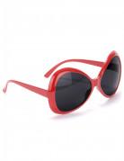 Gafas disco adulto rojas
