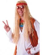 Peluca hippie extra larga rubia adulto