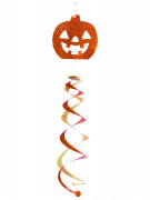 Decoración colgante remolino calabaza Halloween