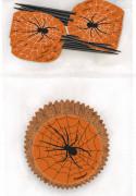 Moldes para magdalenas y palillos decorativos