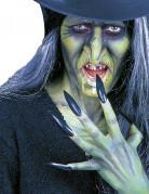 Uñas postizas negras adulto Halloween