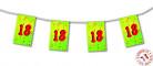 Guirnalda banderines papel 18 años 4 m