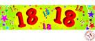 Pancarta papel 18 años 0,16x2,44 m