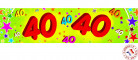 Pancarta papel 40 años 0.16 x 2.44m