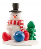 Decoración postres muñeco de nieve Navidad